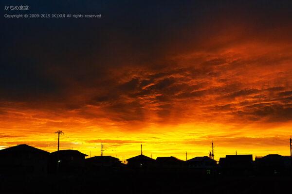 Orange sunset of