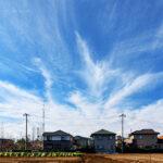 飛行機雲 俯瞰